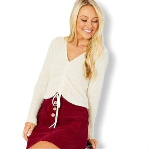 NWT Altar'd State Ivory Sweater Size XS